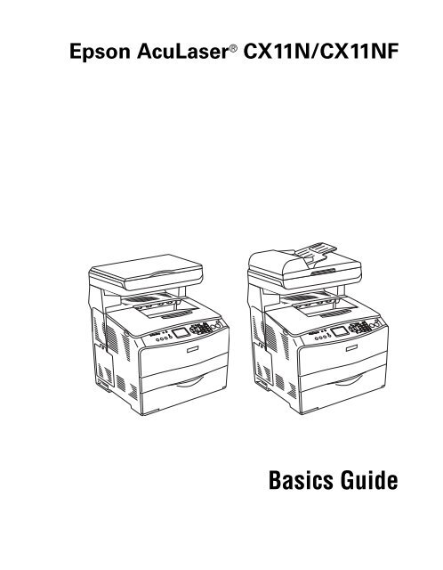 Epson Epson AcuLaser CX11NF Manual and user guide