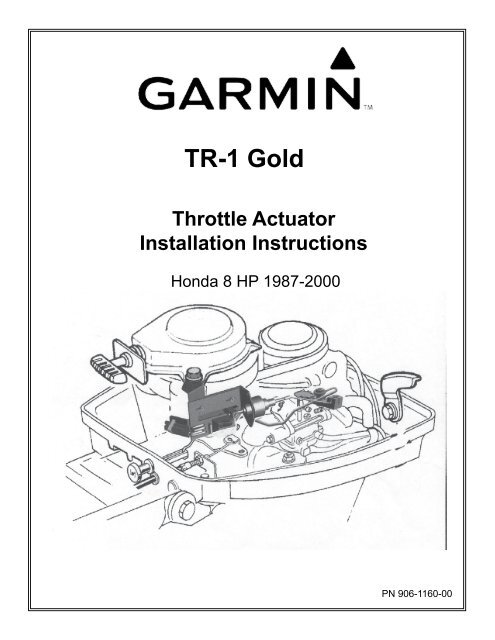 Garmin TR-1 Gold Marine Autopilot Manual and user guide