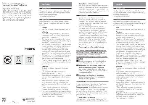 Philips Norelco Multigroom Grooming kit Manual and user