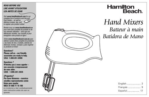Hamilton Beach 6 Speed Hand Mixer with Snap-On Case (62687