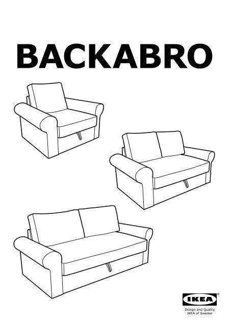 Divani 2 Posti Ikea Letto : divani, posti, letto, BACKABRO, MARIEBY, Divano, Letto, Posti, S59033536, Istruzioni, Montaggio
