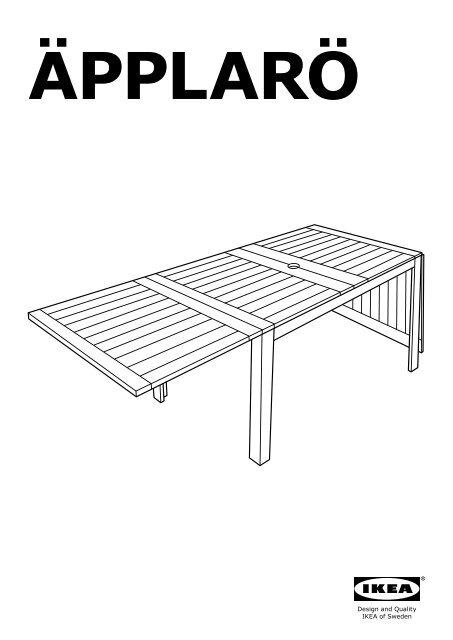 Ikea ÄPPLARÖ tavolo+2sedie bracc+panca, giardino