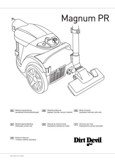 Dirt Devil Centrixx XL / MAGNUM PR manuale d'istruzioni