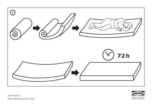 Ikea FLEKKE letto divano/2 cassetti/2 materassi