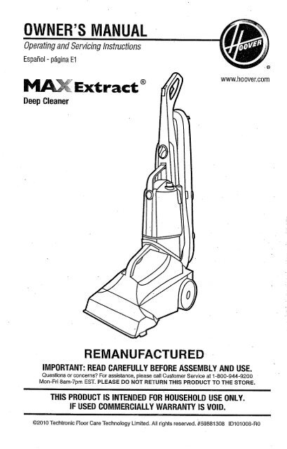Hoover Reconditioned Max Extract® 77 Multi-Surface Pro