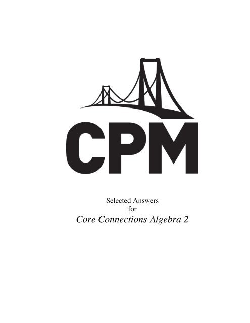 20+ Fantastic Ideas Cpm Answers Course 2 Chapter 3