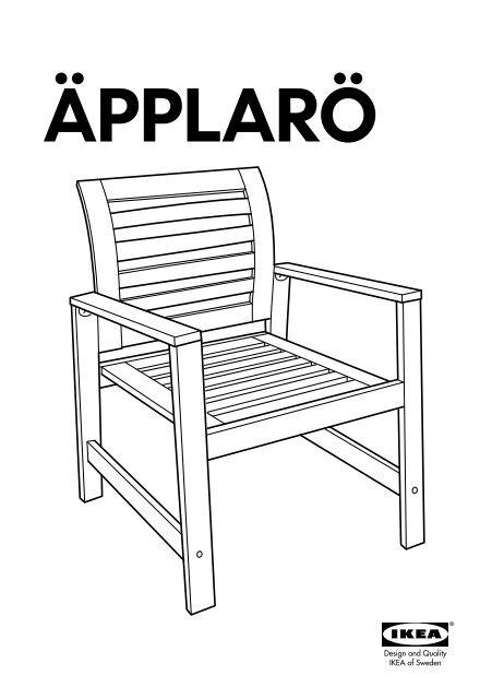 Ikea ÄPPLARÖ tavolo+6sedie bracc+panca giardino