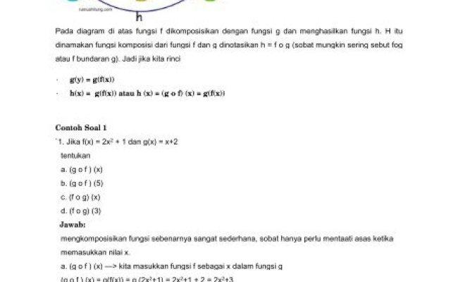 Fungsi Komposisi Fogx Dan Gofx Matematika Sma Contoh Kumpulan