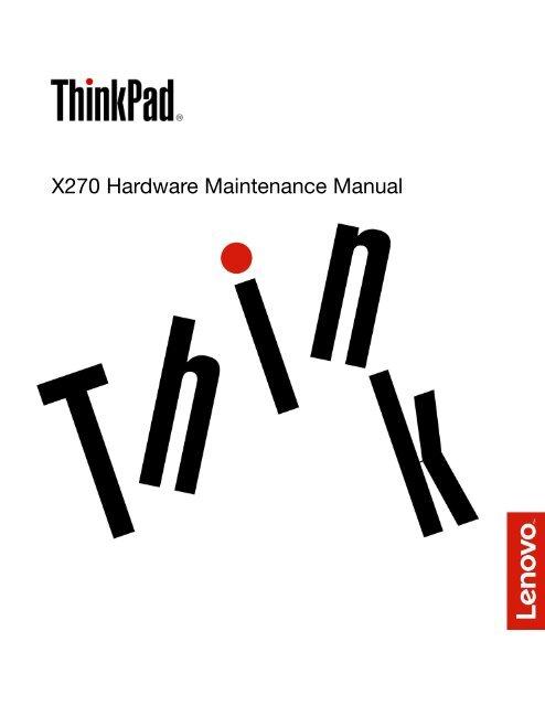 X270 Hardware Maintenance Manual