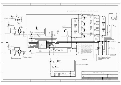 13.8V 40A Power Supply Schematic Prints
