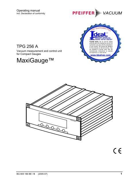 Pfeiffer, MaxiGauge, TPG 256 A, Control Unit, Compact