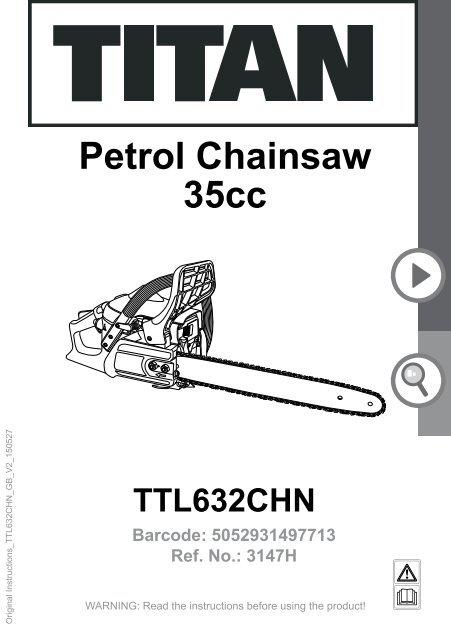 TITAN TTL632CHN PETROL CHAINSAW 3147H