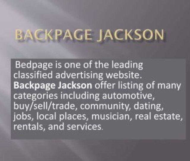 Backpage Jackson A Market Born Alternative To Backpage