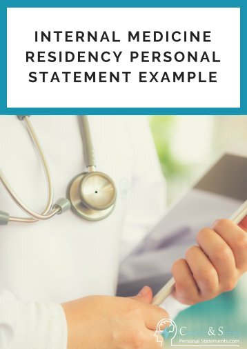 Step 4: Writing a Personal Statement - Tulane Internal Medicine ...