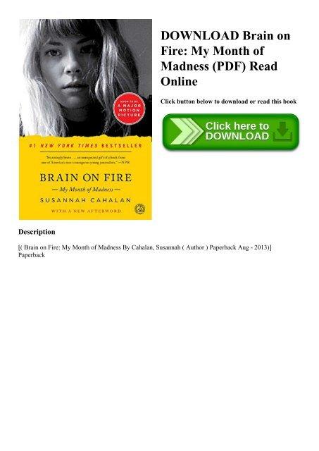Brain On Fire Histoire Vraie : brain, histoire, vraie, DOWNLOAD, Brain, Month, Madness, (PDF), Online
