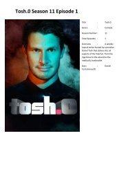 Tosh O Full Episodes : episodes, Season, Episode