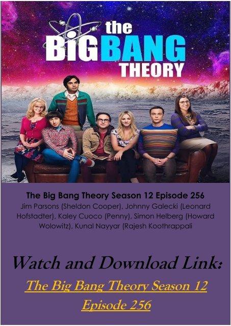 Big Bang Theory Season 12 Streaming : theory, season, streaming, Streaming, Online, Theory, Season, Episode