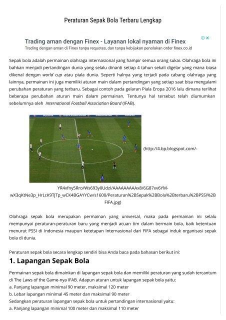 Aturan Dalam Sepak Bola : aturan, dalam, sepak, Peraturan, Sepak, Terbaru, Lengkap, Kabar, Sport