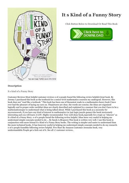 It's Kind Of A Funny Story Book Pdf Download : funny, story, download, Download, Funny, Story, Ebook, Online