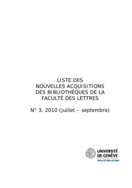 juillet septembre universite de geneve