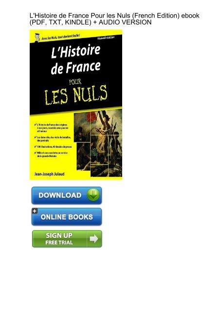 L'histoire De France Pour Les Nuls Pdf : l'histoire, france, CONTROVERSIAL), Download, LHistoire, France, French, Ebook, EBook