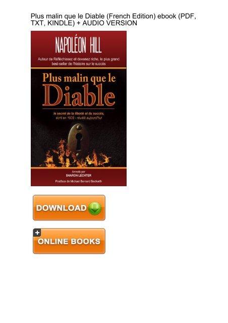 Plus Malin Que Le Diable Pdf : malin, diable, ADAPTABLE), Download, Malin, Diable, French, Ebook, EBook