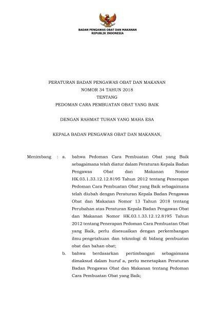 Cpob 2018 Pdf : PerBPOM, Tahun, Tentang, CPOB_PDF, (CPOB, 2018)