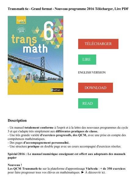 Transmath 6eme Manuel En Ligne Gratuit : transmath, manuel, ligne, gratuit, 2091719129