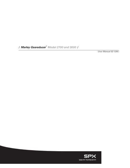 Marley gearbox manual