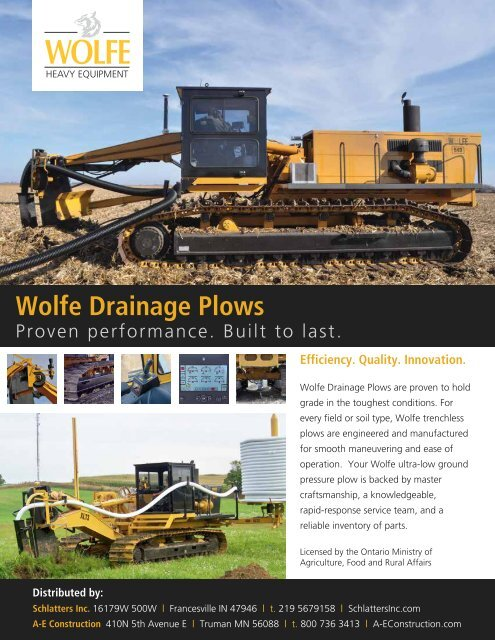 wolfe drainage plows wolfe heavy