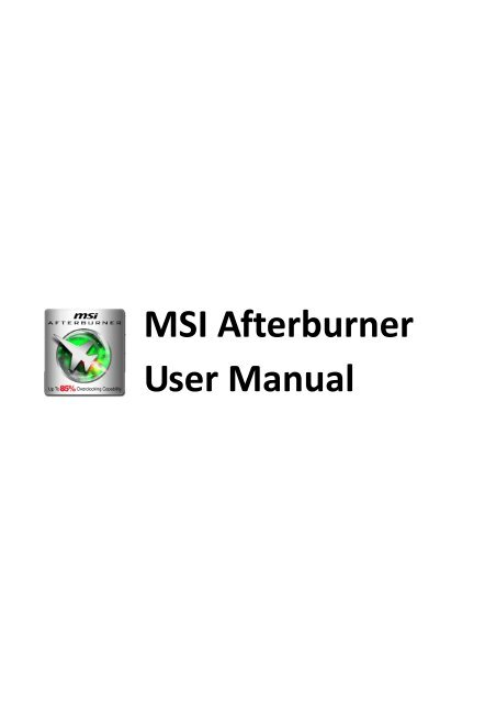 [PDF] MSI Afterburner User Manual