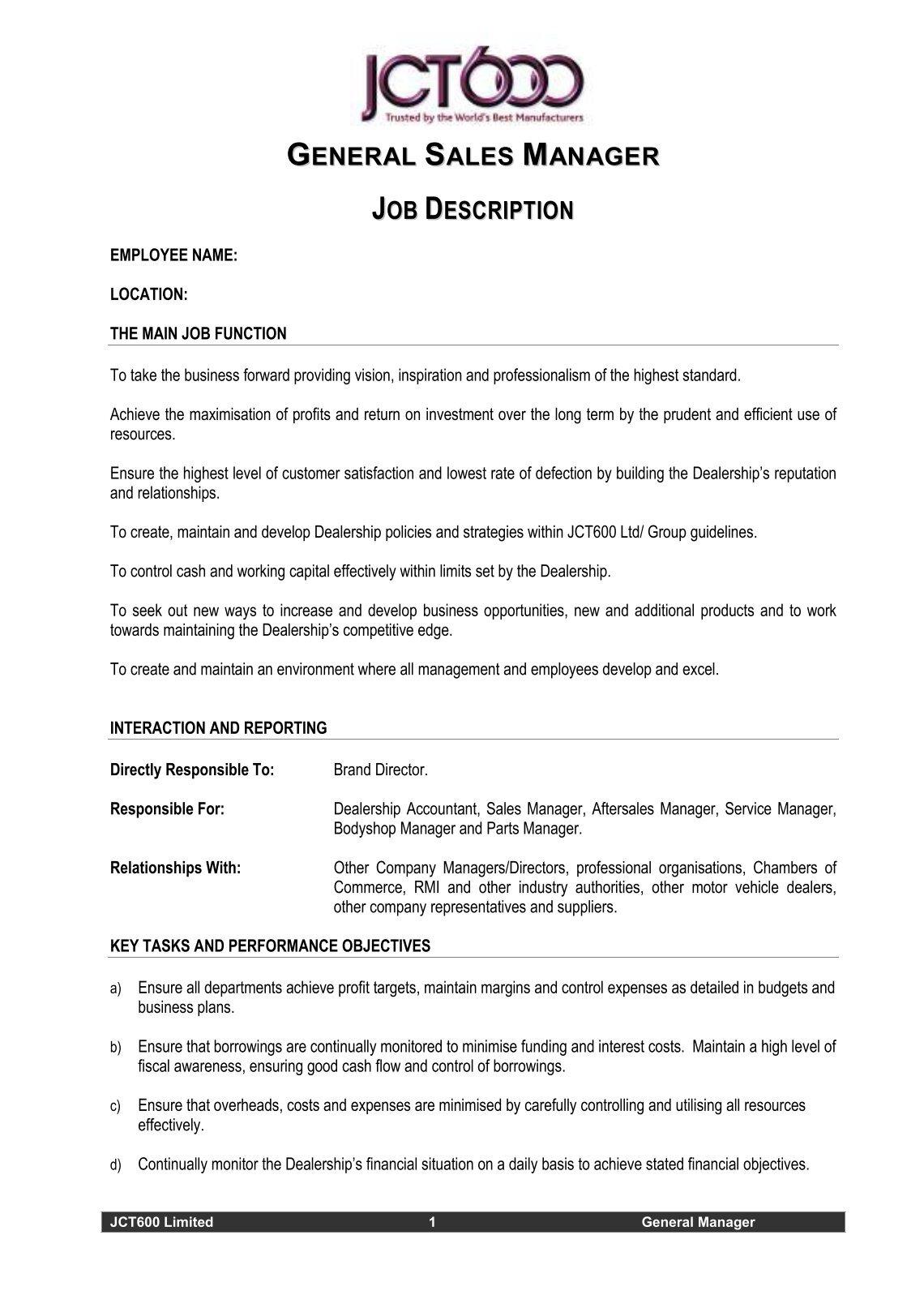 Director Of Engineering Job Description Job Description