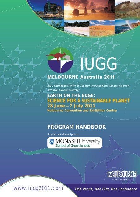 Iugg Program Book V14 Indd Iugg 2011
