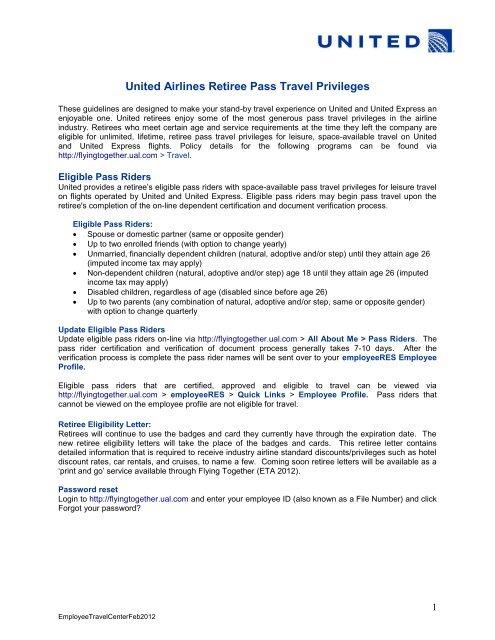 Ual Login : login, United, Airlines, Retiree, Travel, Privileges, Golden, Eagles