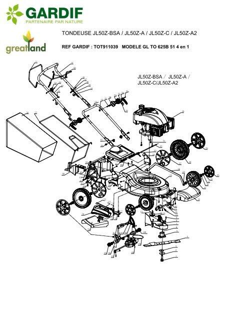 TONDEUSE JL50Z-BSA / JL50Z-A / JL50Z-C / JL50Z-A2
