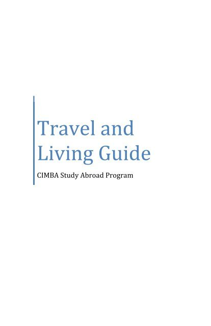 travel and living guide
