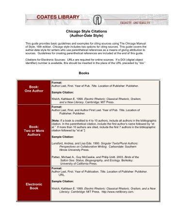 Chicago Style Citation Thesis Dissertation