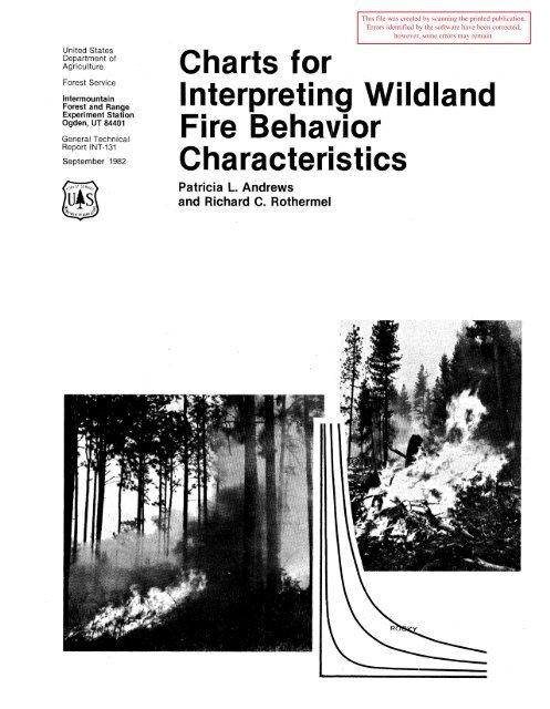 Charts for interpreting wildland fire behavior