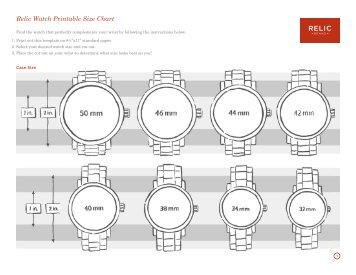 Relic watch printable size chart fossil also magazines rh yumpu