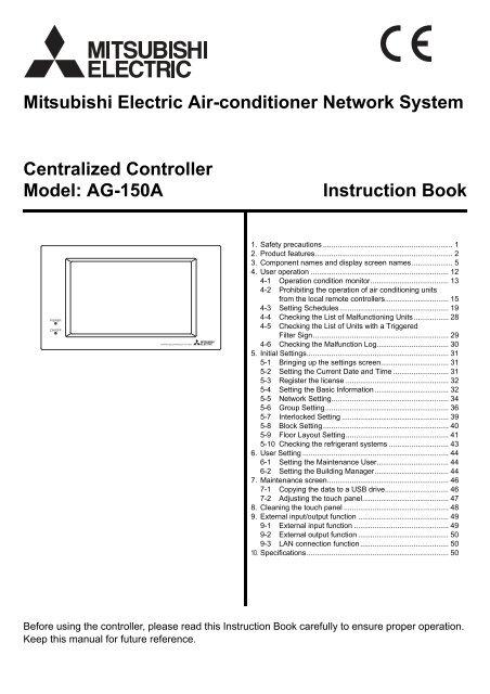 Mitsubishi Electric Air Conditioner Remote Control Symbols