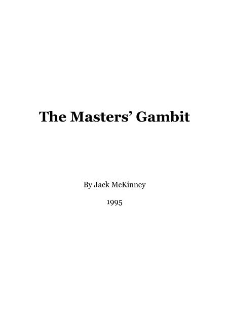 Does Light Level Matter In Gambit : light, level, matter, gambit, Masters', Gambit