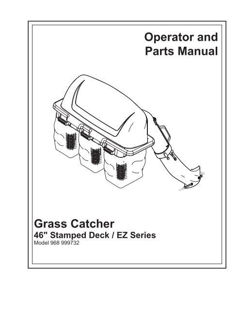 OM, EZ, Grass Catcher/ Bagger, 46