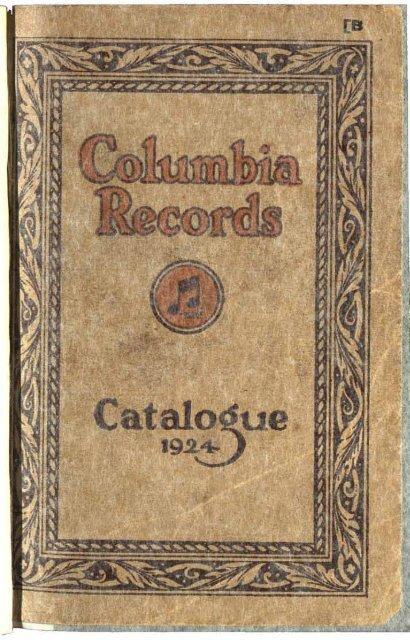 columbia records catalogue 1924
