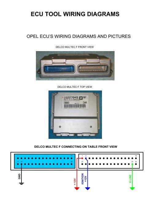 ecu tool wiring diagrams