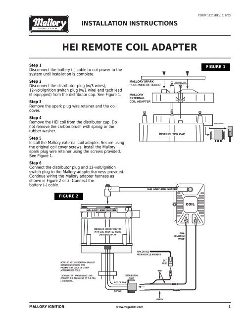 gm hei remote coil wiring download wiring diagram