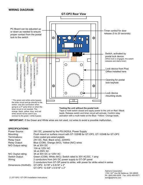 Wiring Diagram Aiphone Intercoms