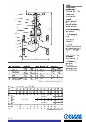 NAF-Check Rückschlagklappen DN 40 bis DN 1000, PN 10 bis PN 40