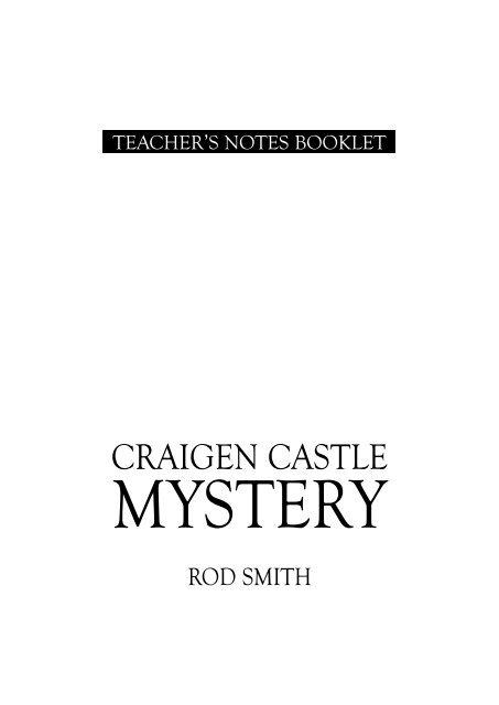 CRAIGEN CASTLE MYSTERY PDF
