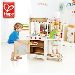 Hape Kitchen Custom Made Cabinets Hape厨房餐车过家家玩具套装 Hape厨房
