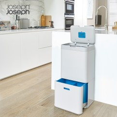 Kitchen Trash Bin Undermount Sink White 英国joseph Joseph智能客厅厨房垃圾桶智能分类垃圾桶纸篓杂物桶 厨房垃圾桶